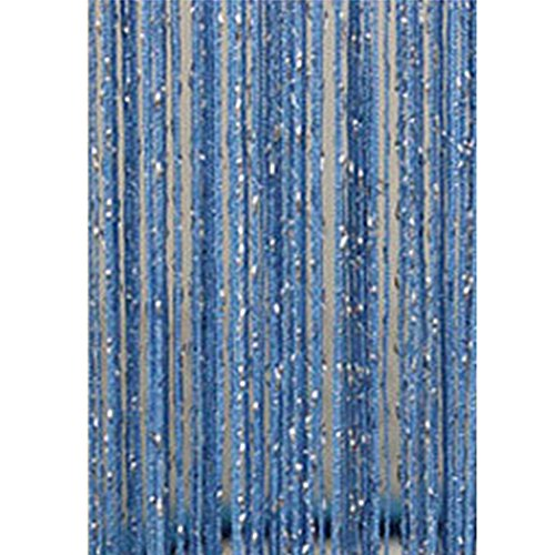 1 x 2M Fadenvorhang mit Perlen, Quaste Türvorhang, Gardinen, Raumteiler Perlenvorhang, Aufhängen am Trennwand Tür Fenster-Wand-Dekor,für die Partyhochzeit Dekoration Home Office