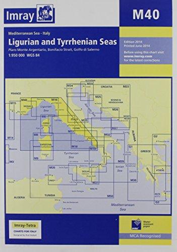 Imray Chart M40: Ligurian and Tyrrhenian Sea