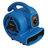 XPOWER P-80A Mini Mighty Air Mover, Floor Fan, Dryer, Utility Blower with Built-in Power...