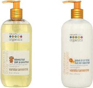 Nature's Baby Organics Vanilla Tangerine Shampoo & Conditioner Combo Pack, Cruelty Free, Gentle on Skin, 2 ...