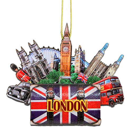 City-Souvenirs London Christmas Ornament 4 Inch Double Sided 3D London Christmas Ornament