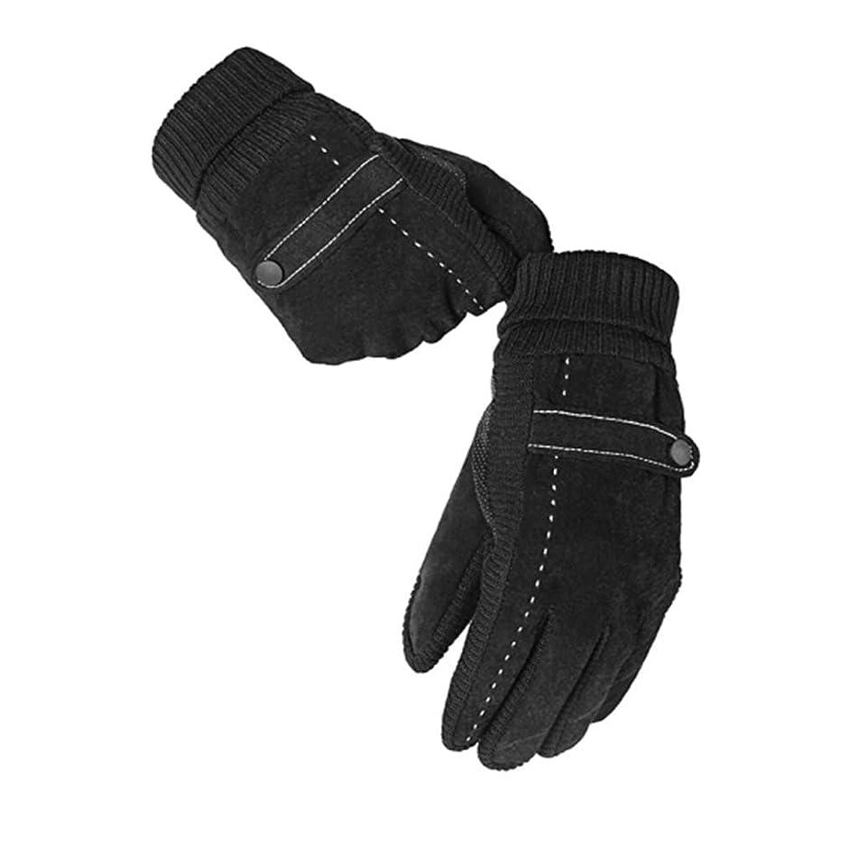 クレデンシャル一貫した不健康手袋の男性の暖かいとベルベットの冬のタッチスクリーン革手袋のオートバイのファッション冷たい手袋