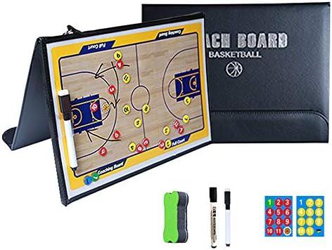 DSAN Coachboard Basketbal Tactics Board Draagbare Basketbal Coaching Board PU Lederen Cover Lichtgewicht en Draagbaar 2435cm