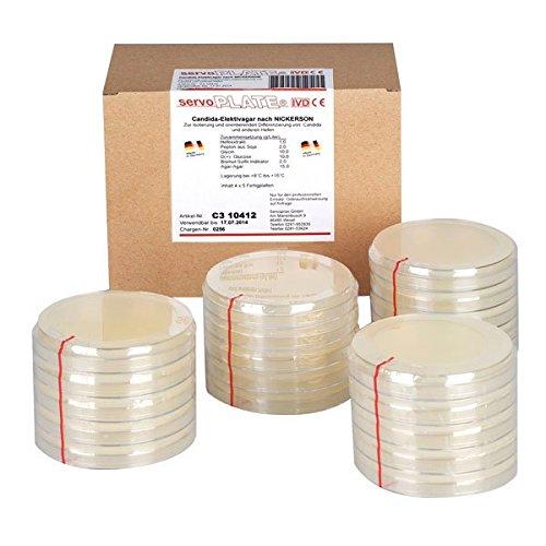 Servoplate C3 10421 Nährböden, Pilz Agar nach Kimmig (20-er Pack)