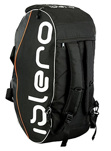 Islero GYM Sports kit bag backpack Duffle football Fitness Training MMA Boxing Luggage Travel Bag (Black)