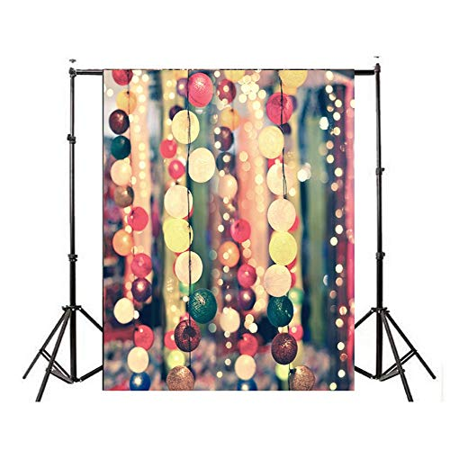 Fotobehang Kerstmis Fotografie Achtergrond Kleurrijke Bal Decoraties Voor Thuis Foto Achtergrond Gemakkelijk Ophangen