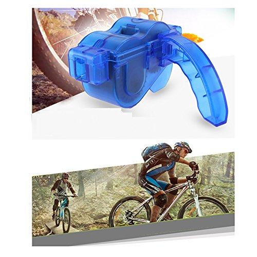 Yizhet Fahrrad Kettenreinigungsgerät Fahrradkettenreiniger Reinigung Scrubber Pinsel-Werkzeug im Set für Kettenreinigung Schnelles Sauberes Werkzeug Cycling Bike Bicycle Chain Cleaner - 8