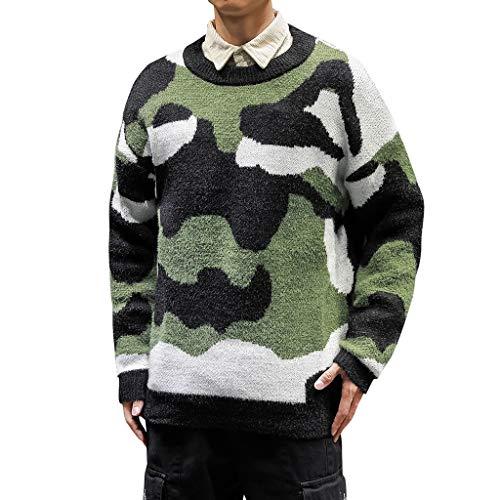 Luckycat Herren Strickpullover Feinstrick Pullover Mit Rundhalsausschnitt Herren Strickpullover Pullover Slim Fit Winter Basic Sweater Mischen