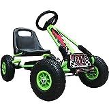 Kiddo Racer Design Green Kids Childrens Pedal Go-Kart Ride-On Car, Adjustable Seat, Rubber