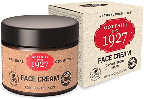 Gotthilf 1927 Face Cream |Cosmética 100% Natural | Crema Facial de Día y Noche | Fuente Natural de Ácido Hialurónico | Aceite de Semilla de Brócoli | Hidratación | Vegano | 50 ml|Hecho en Alemania