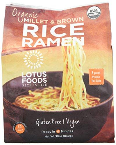 Lotus Foods Bio-Hirse & brauner Reis Ramen, 12 Packungen (2 Stück)
