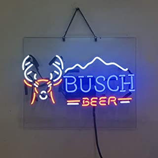 Busch Beer Neon Sign Beer Bar Pub Store Party Room Wall Windows Display Neon Light 19x15
