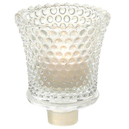 Kandelaber Glasaufsatz mit Punkt Struktur für Teelicht. 4 Stück