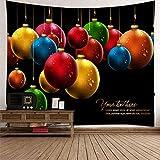 BATOHOME Weihnachtsteppich, Wandbehang Decke Weihnachtskugeln Kleines Wandtuch, Wanddekoration XXL 260x240CM