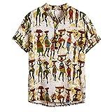 FossenHom Camisas de Hombre Manga Corta Casual - Camisas Hombre Baratas Fiesta, Camisetas Tops Hombres
