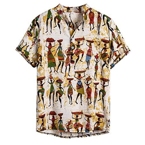 Strandhemd Herren Hawaii Hemd Kurzarm Hemden Button Down Hawaiihemd beiläufige Hemden Aloha Hemd für Strand Party Feiertag