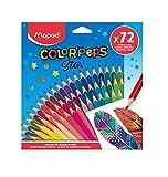 Maped - Lápices de colores egonomicos de tres cantos Color'PEPS STAR - 72 lápices