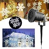 Projecteur Noël LED Extérieur – VIDEN Projecteur de Lumière à LED avec Flocon...
