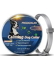 PROZADALAN Collare Calmante per Cani, Collare Calmante per Cani Regolabile Allevia Efficacemente l'ansia del Cane, Sicuro e Non Tossico Proteggi la Salute Fisica e Mentale dei Cani (62cm)