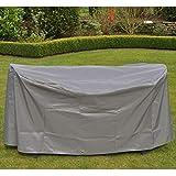 HI Schutzhülle Abdeckung für Gartentische oval ca. 155 x 95 x 75 cm anthrazit
