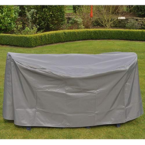 Beschermhoes, afdekking voor tuintafels, ovaal ca. 155 x 95 x 75 cm, antraciet.