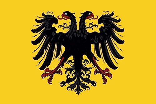 U24 Aufkleber Heiliges Römisches Reich Deutscher Nation Flagge Fahne 8 x 5 cm Autoaufkleber Sticker
