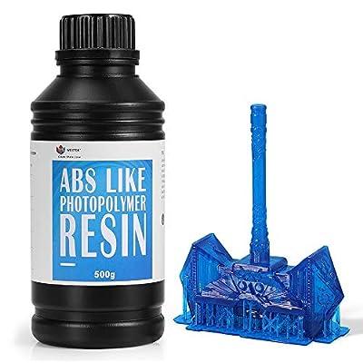 WEISTEK 3D Resin UV 405nm Resin ABS-Like Photopolymer Resin for LCD 3D Printer,500g(Blue)