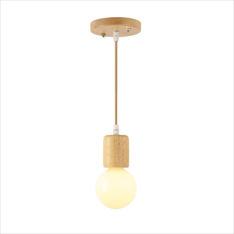Lampe suspendue en bois d'art minimaliste E27 Lampe suspendue en hauteur de lustre de restaurant AC110-240V (Taille   S)