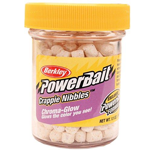 Berkley Powerbait Crappie Nibbles Dough Bait Glow White