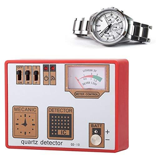 LXH-SH Reloj mecánico Movimiento de Cuarzo Movimiento Demagnetización Botón Célula Batería Capacidad Tester Mediding Herramienta de detección para el relojero