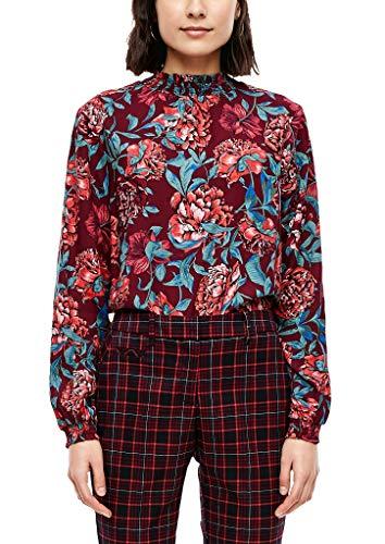 s.Oliver Damen Viskosebluse mit Musterprint ruby wine AOP flowers 40
