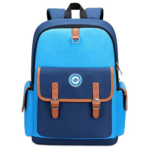 Kids Backpack Children Bookbag Preschool Kindergarten Elementary School Bag for Girls Boys(14182 small blue)