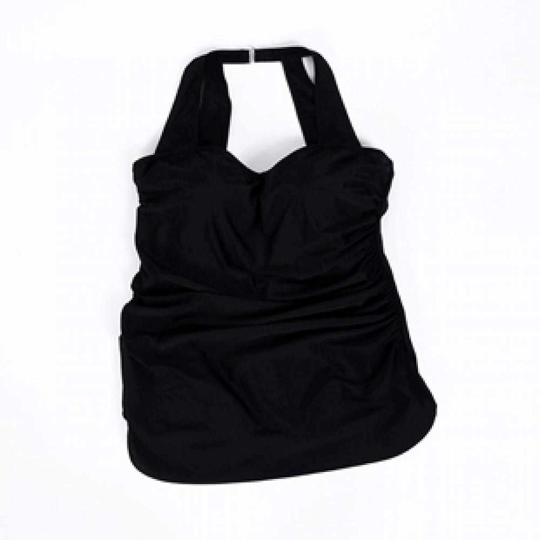 LXKDYYY Plus Size Halter Womens One Piece Swimsuit Large Size Bathing Suits Woman Beach Swimwear Black