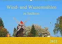Wind- und Wassermuehlen in Sachsen (Wandkalender 2022 DIN A2 quer): Muehlenanlagen vergangener Zeiten (Monatskalender, 14 Seiten )