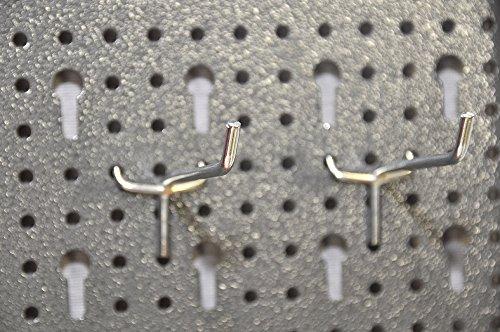 Dreiteilige Werkzeuglochwand aus Metall mit 14tlg. Hakenset, ca. 120 x 60 x 1 cm - 3