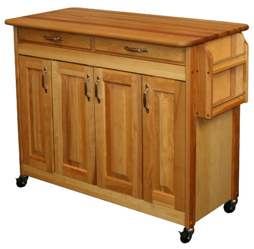 Catskill Craftsmen Butcher Block Island with Raised Panel Doors