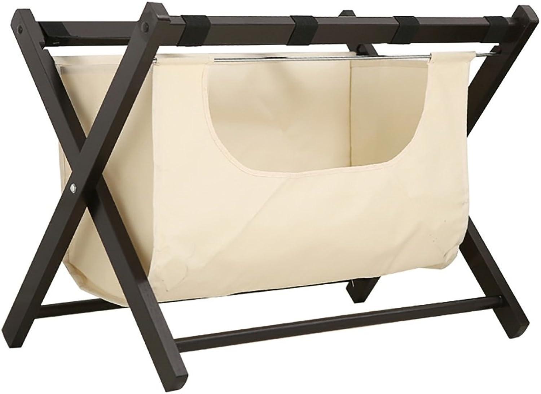 SH-xlj Faltbarer Gepäckträger, hölzerner Faltbarer Koffer-Gestell als Gepäck-Stützstand-Behälter-Stand-Koffer-Regal-Rucksack-Organisator 63  45  50CM B07FBWHR78