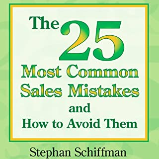 The 25 Most Common Sales Mistakes and How to Avoid Them audiobook cover art
