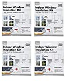 4 x Energy Saving Window Insulation Kit Draught Excluder Clear Film Frost Cold