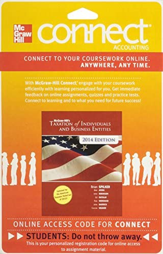 Connect Accounting with LearnSmart 2 Semester Access Card for McGraw Hill s Taxation of Individuals product image