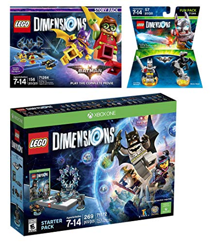 Lego Dimensions Starter Pack + Lego Batman Movie Story Pack + Excalibur Batman Fun Pack for Xbox One