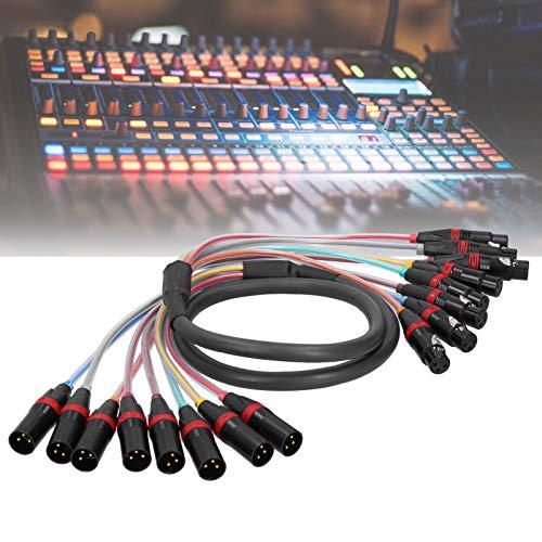 SALALIS Cable de Audio, Cable de Audio XLR Duradero de 1,5 m transmitido sin Problemas con un diseño único para Amplificador de Potencia para Mezclador