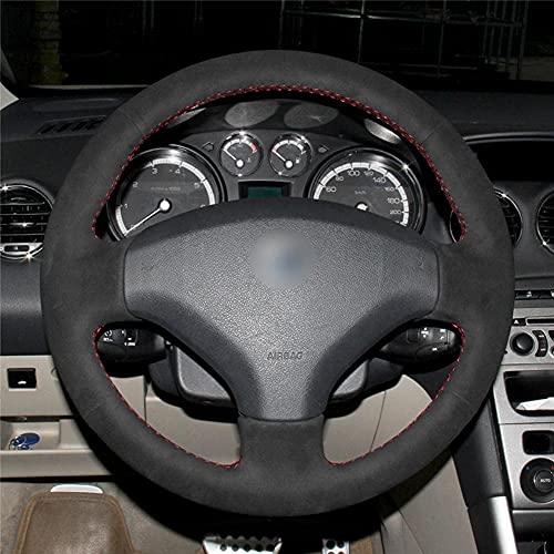 Coche Fundas Volante Cubierta Para Peugeot 308 2007-2013 3008 2011-2015 408 2010 2011 2012 2013 2014, Protector Antideslizante Transpirable Duradera CóModa Mejor Agarre Auto Interna Accesorios