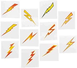 72pcs Temporary kids Lightning Bolt TATTOOS SUPER HERO birthday party favors