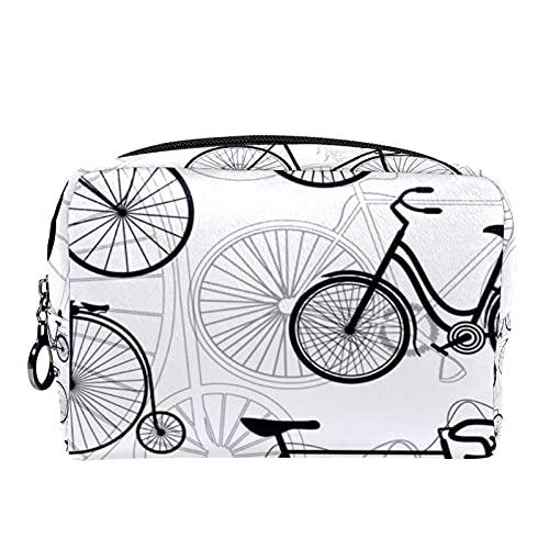 Maquillage Trousse De Toilette Cosmétique Voyage Kit Organisateur Cosmétique Pochette Porte-Monnaie,Impression de vélo de vélo