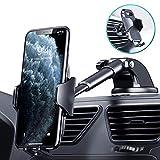 DesertWest - Soporte universal para teléfono de coche 4 en 1 para parabrisas de coche, rejilla de ventilación, escritorio con un botón de liberación de rotación de 360 ° para iPhone SE 2020/11/8/7/6