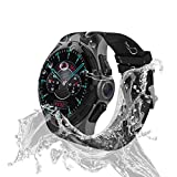 AllCall Waterproof Smart Watch Android Men IP68 Waterproof 3G Smartwatches Phone 2GB RAM 16GB ROM 2.0MP Camera GPS Sports Fitness Tracker 460mAh Battery WiFi Support