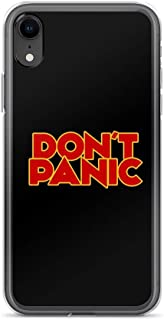 iPhone XR Pure Clear Case Cases Cover Dont Panic - The Hitchhiker's Guide to The Galaxy