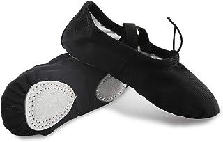 Ballet Shoes, Canvas Dance Shoes for Girls, Children's Ballet Yoga Practice Dance Shoes (Toddler/Little Kid/Big Kid)
