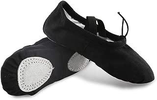 Amtidy Ballet Shoes for Girls/Toddlers/Kids/Women, Canvas Ballet Shoes/Dance Shoe